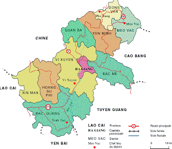 Map of Ha Giang