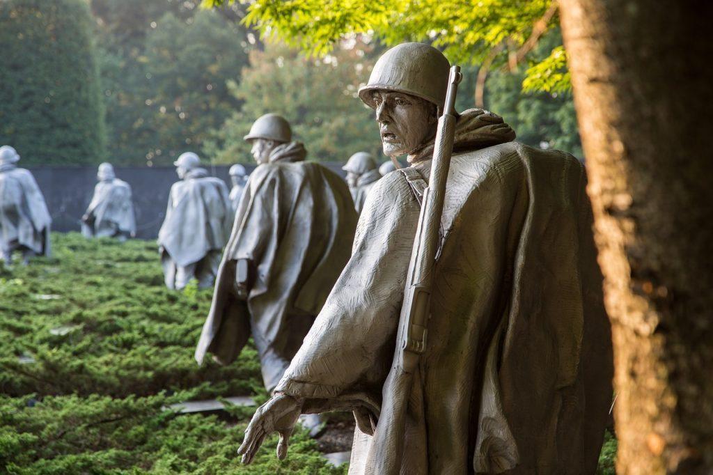 Korean War Memorial in Washington DC - tribute to South Korea's modern history