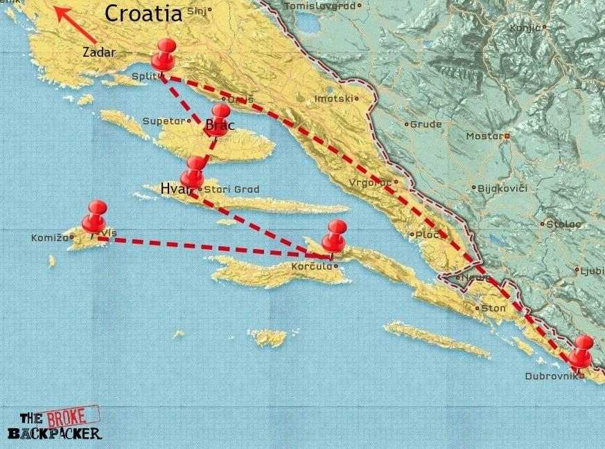 croatia 14 day itinerary