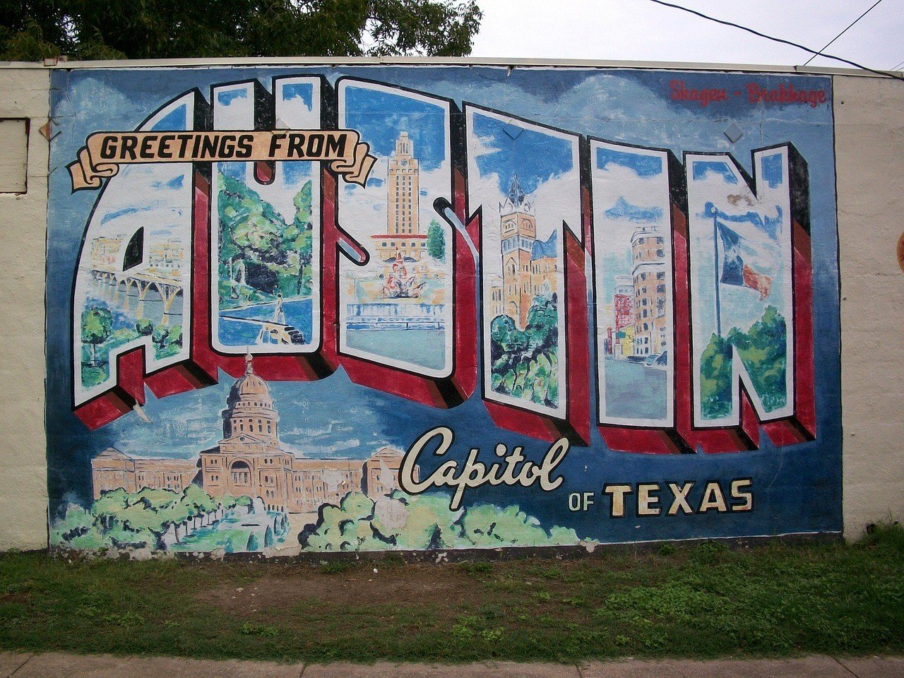 Welcome sign in Austin Texas