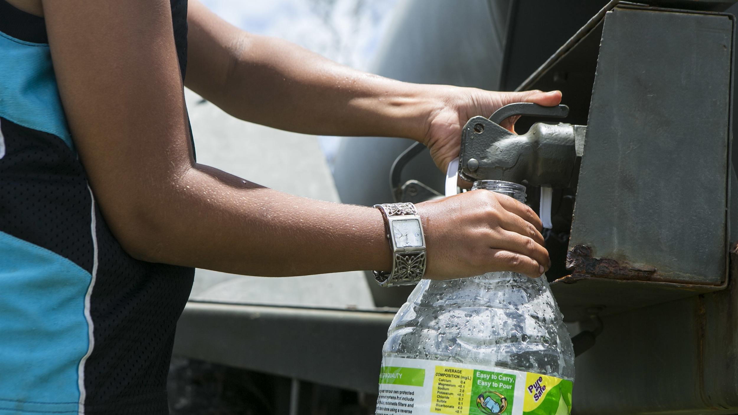 The importance of water purification becomes clear in places without clean drinking sources