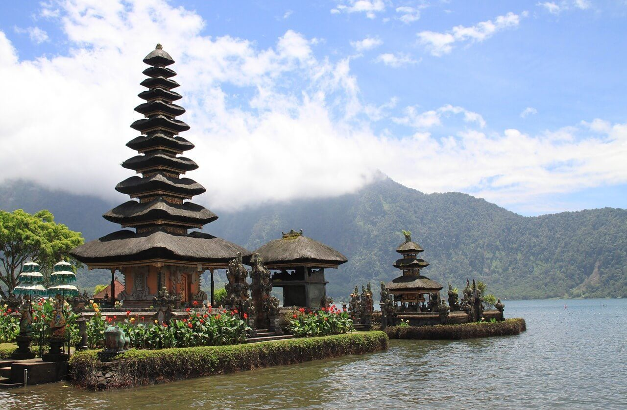 safety bali temples on the lake
