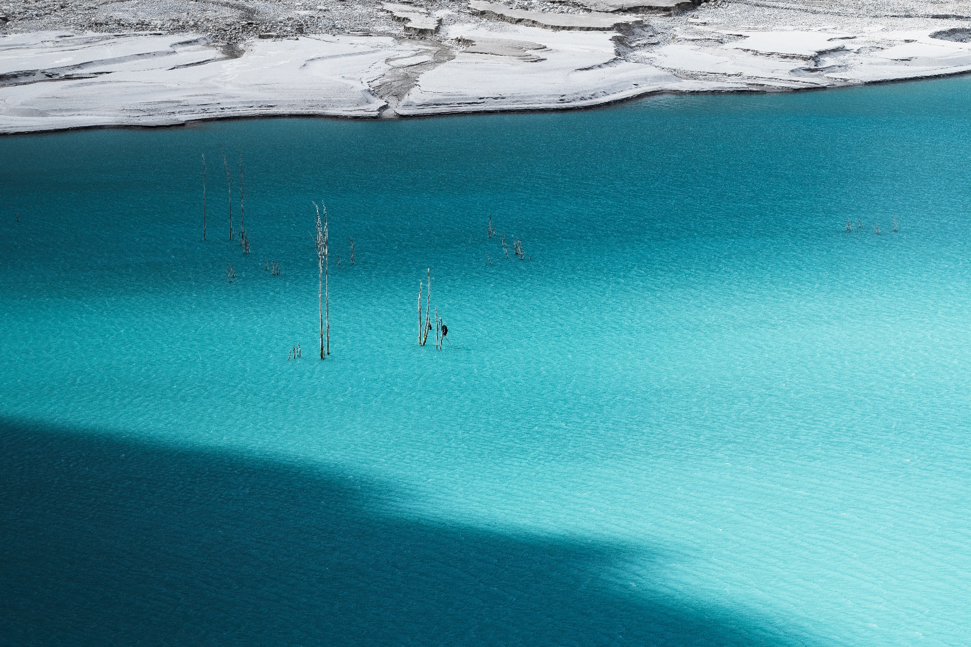blue glacier lake in pakistan tour