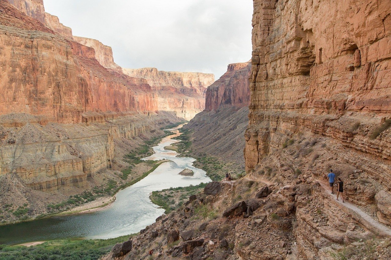 hiking in the Grand Canyon and the Colorado River