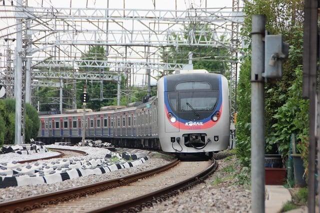 KORAIL train - public transport in South Korea
