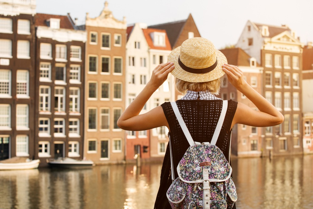 A solo female traveller staying safe in AMsterdam