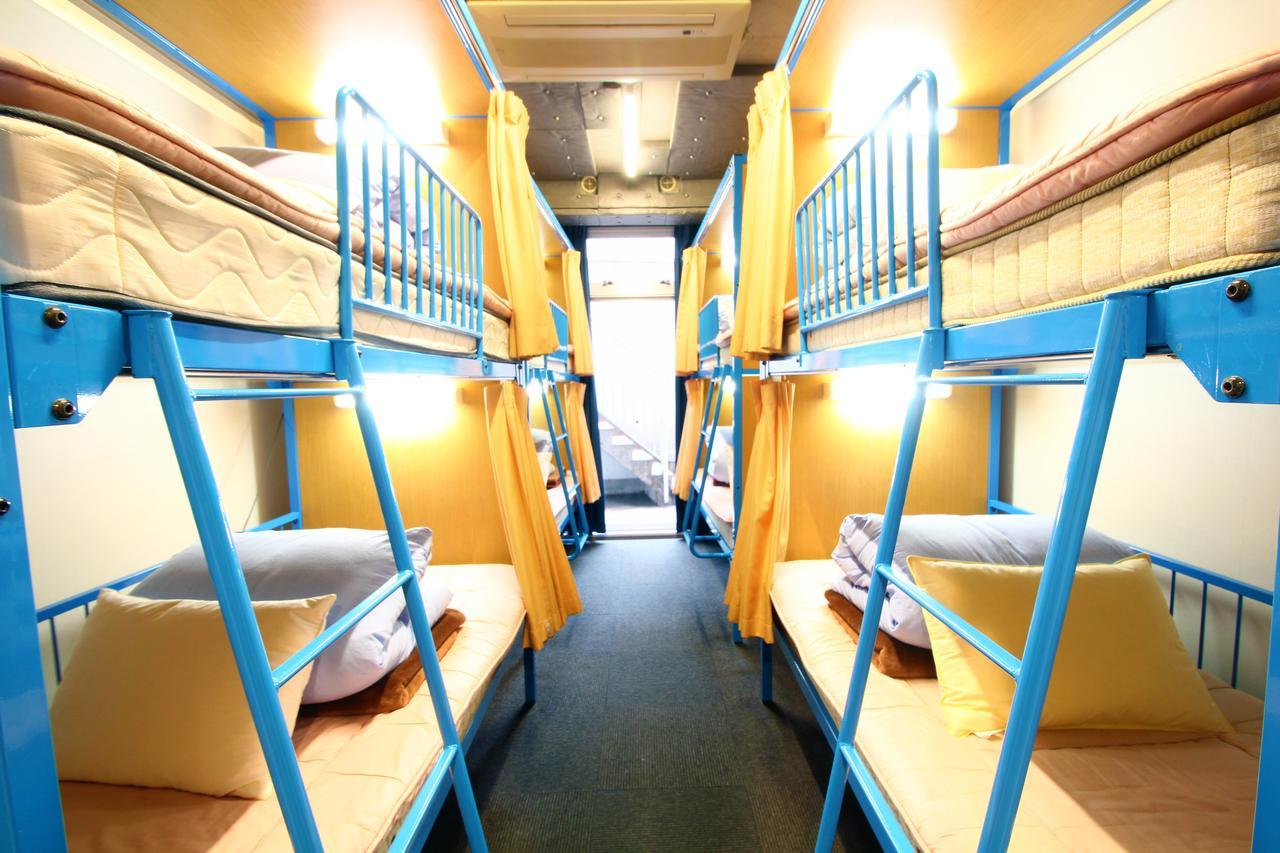 A dormitory in a hostel in Europe