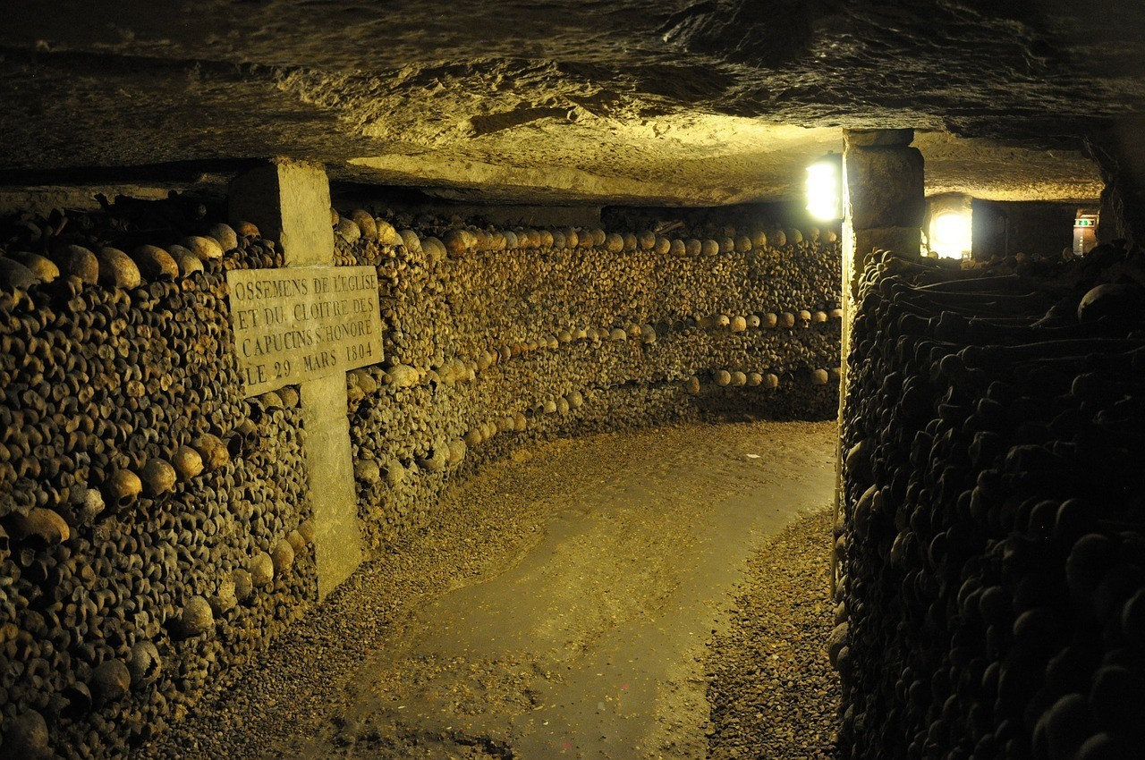 Catacombs - One of the more unique places to visit in Paris