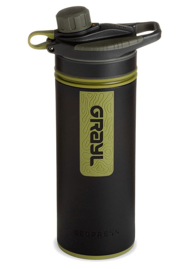 Grayl Geopress Purifier Bottle - Best Overall Filtered Water Bottle