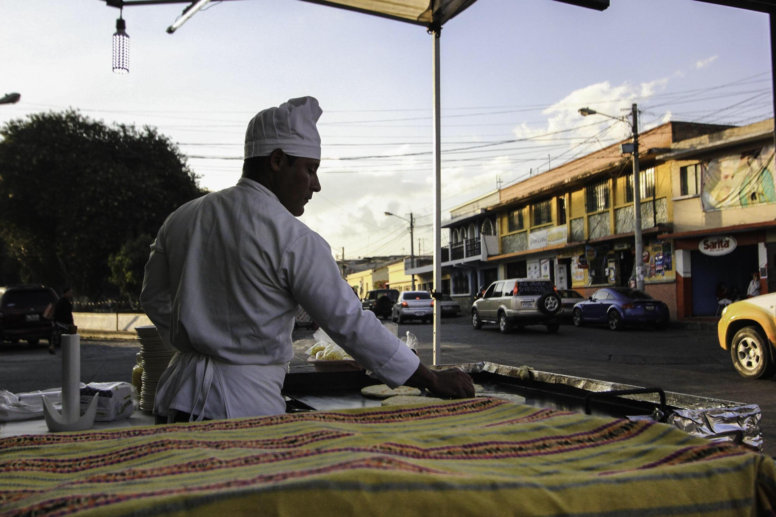 pupusas in Guatemala