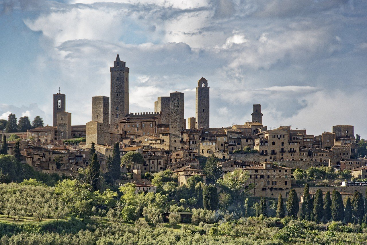 Tuscany Italy San Gimignano Historic Center