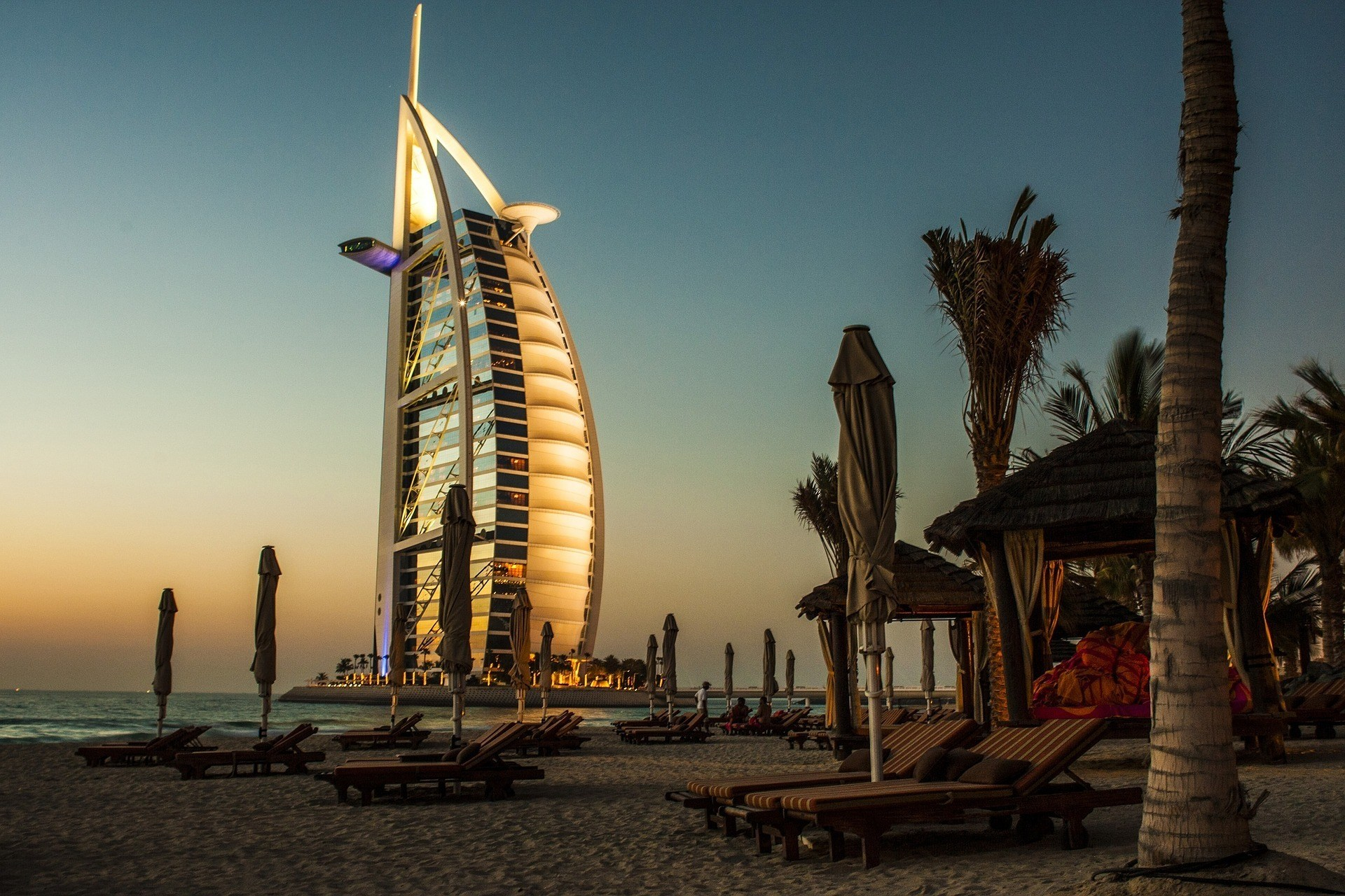 A night out on Dubai's beach in safety