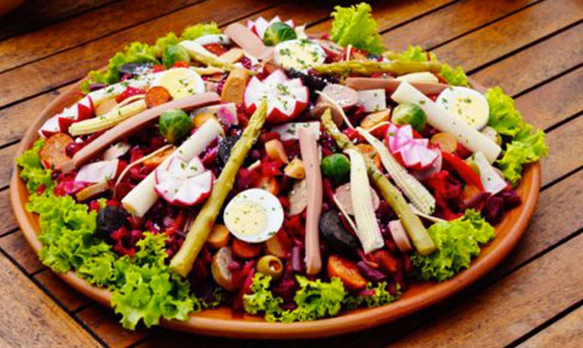 specialty dish in Guatemala: Fiambre