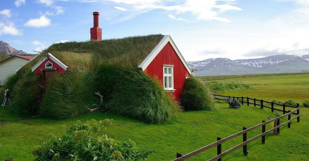 apartments in iceland grassy