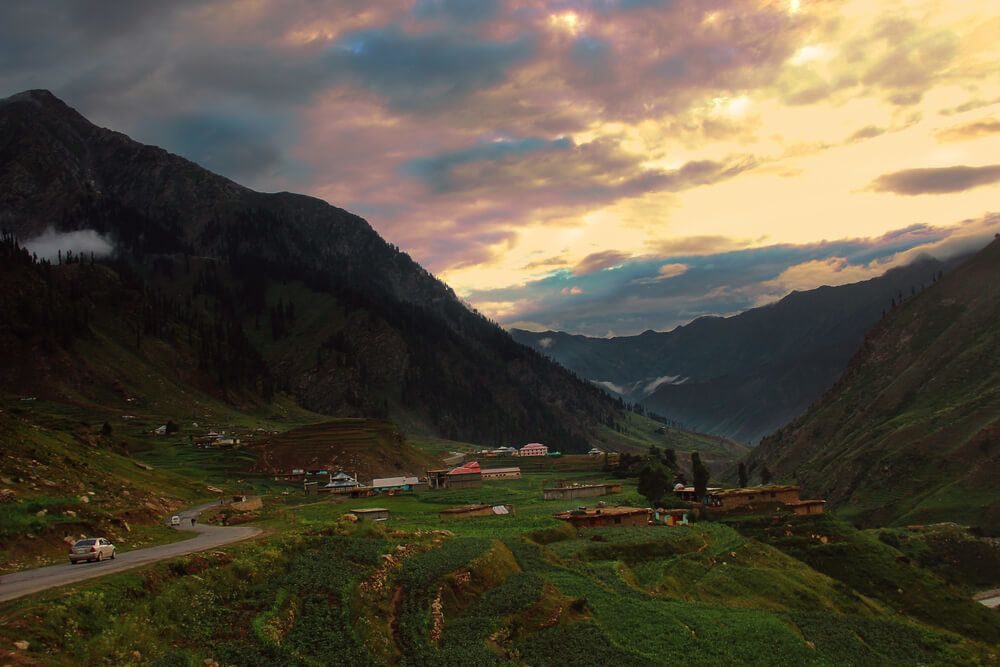 jalkhand sunset kaghan valley
