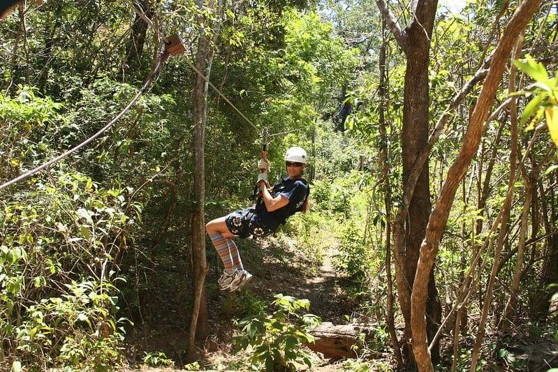 Zipline, Hot Springs and Water Slide in the Jungle
