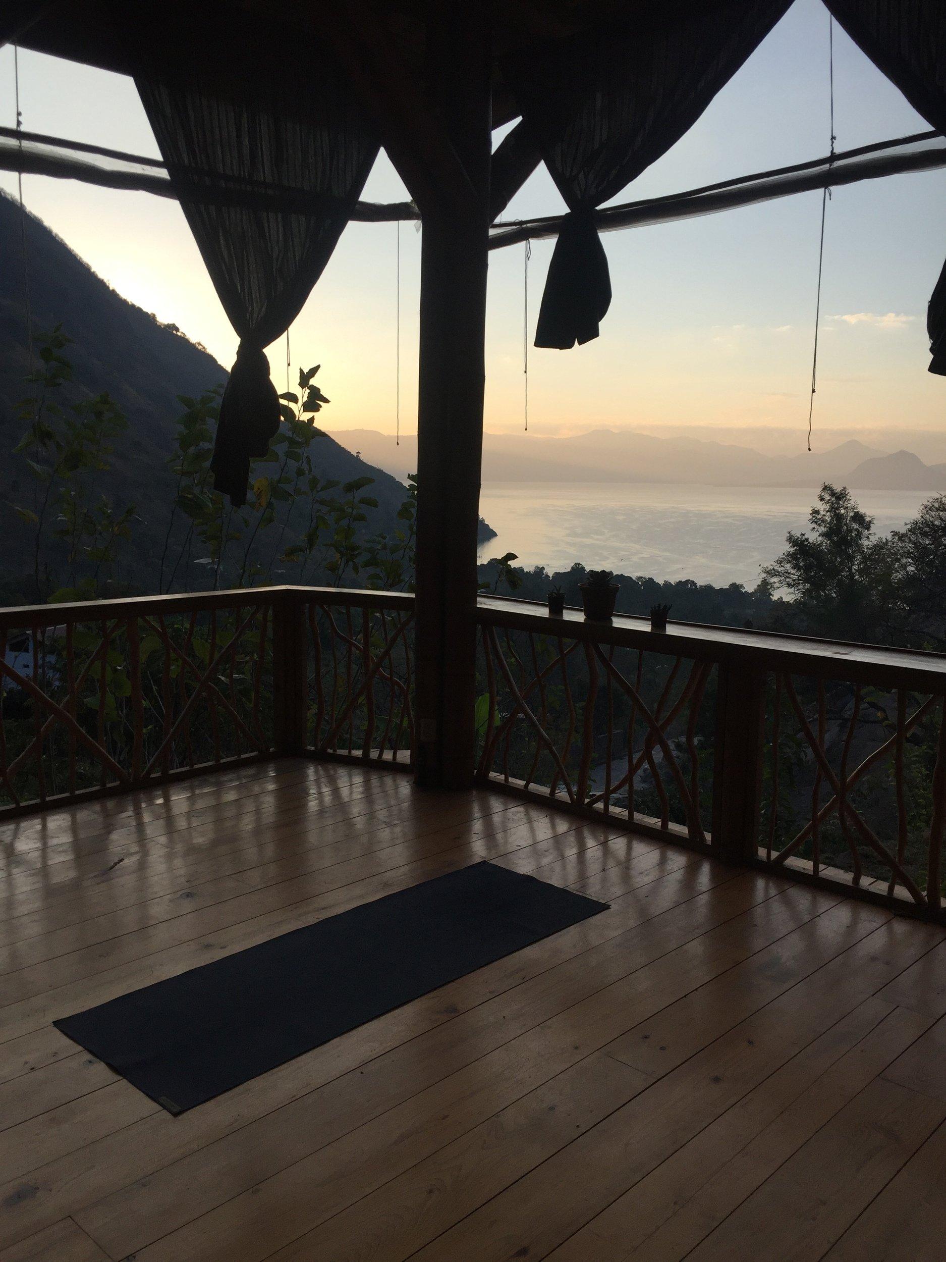 sunrise on Lake Atitlan: relaxing things to do in Guatemala