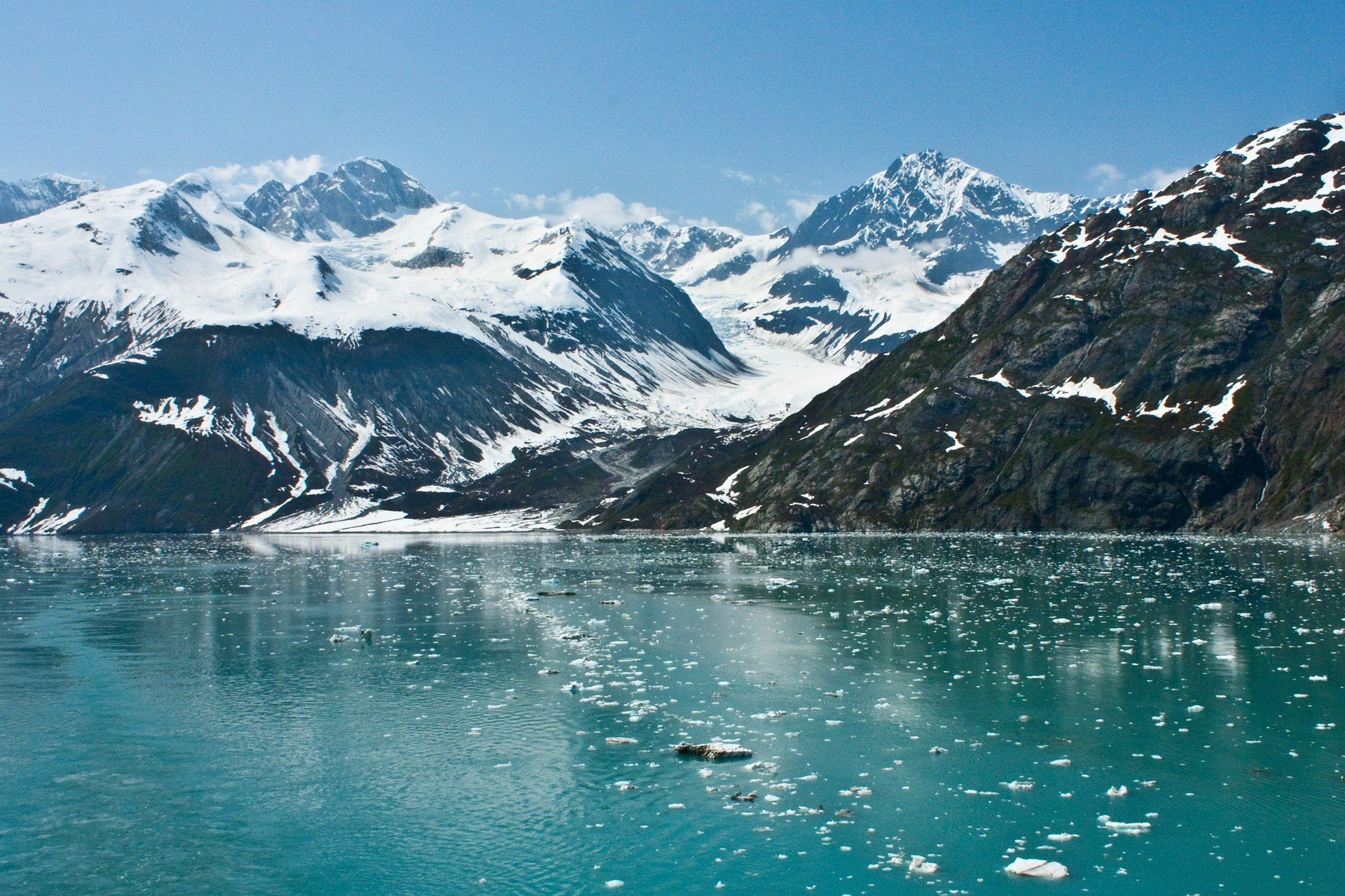 Alaska Glacier - a beautifully scenic place in the USA