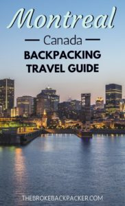Montreal Backpacking City Guide PIN