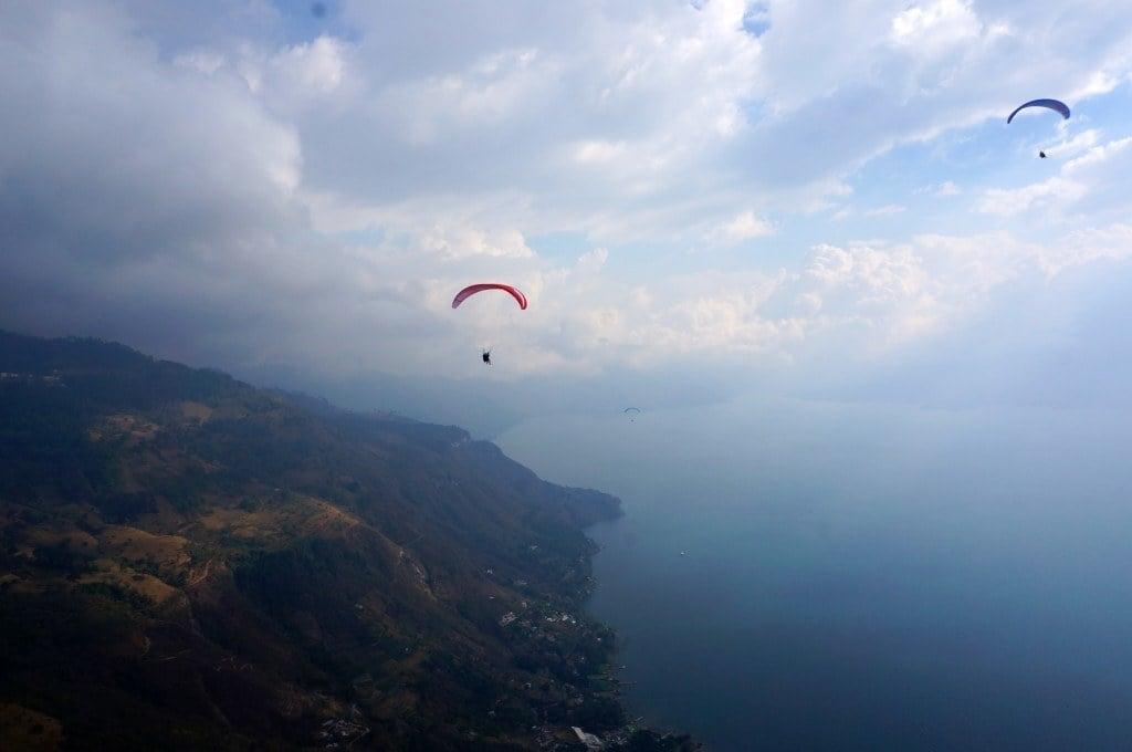 paragliding in Lake Atitlan