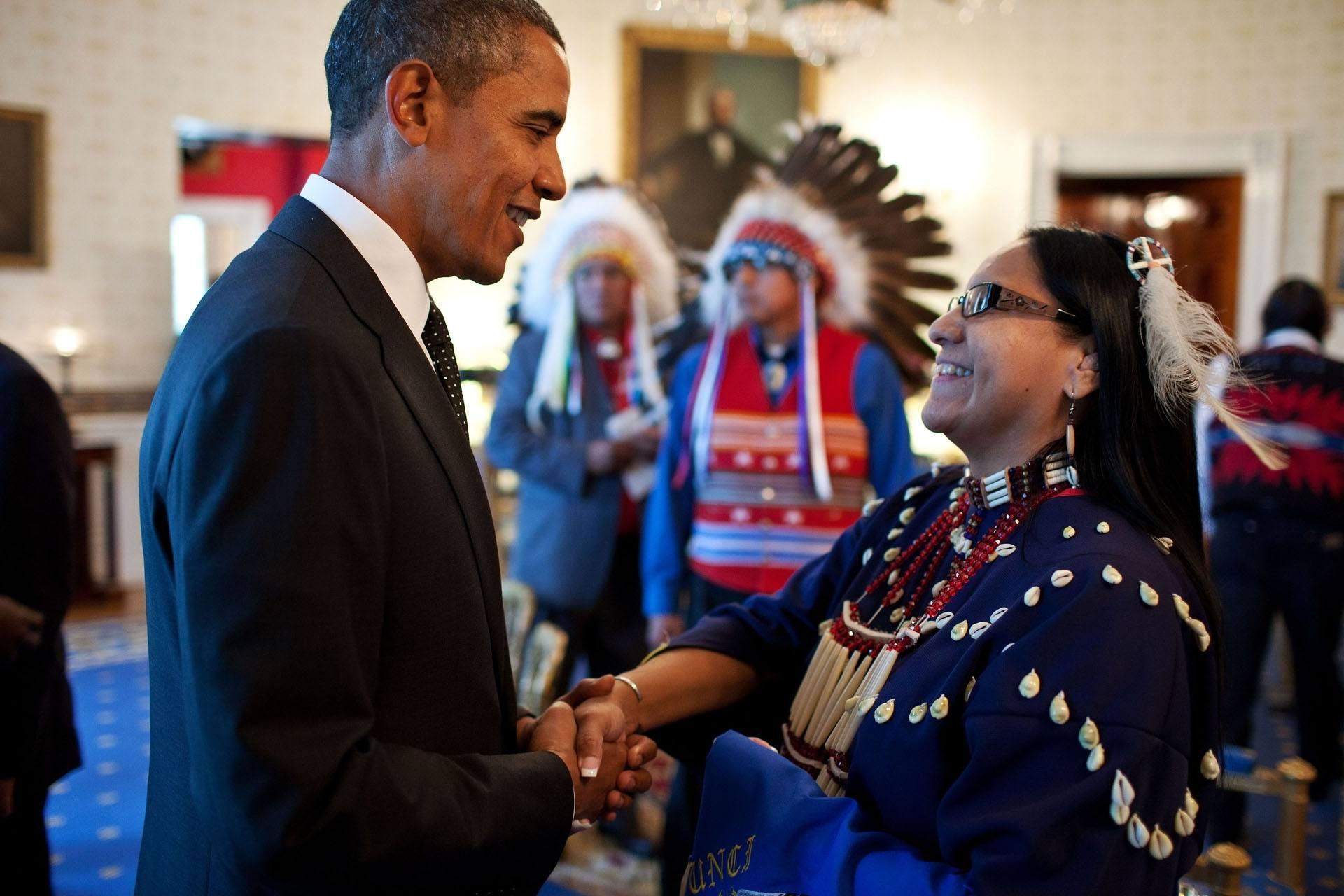 barak obama and native american leaders