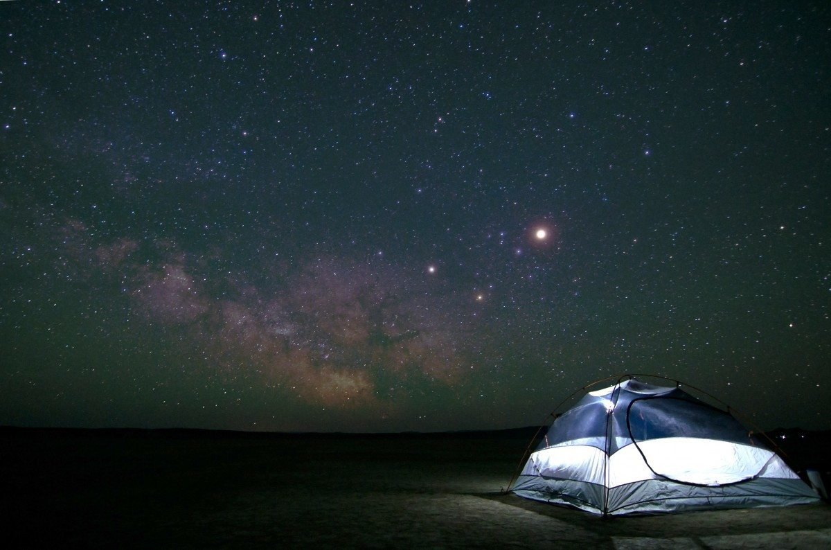 Sleeping under the stars with a budget backpacking tent