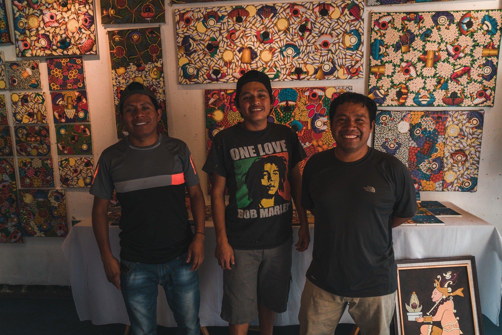 taking an art class in San Juan, Lake Atitlan