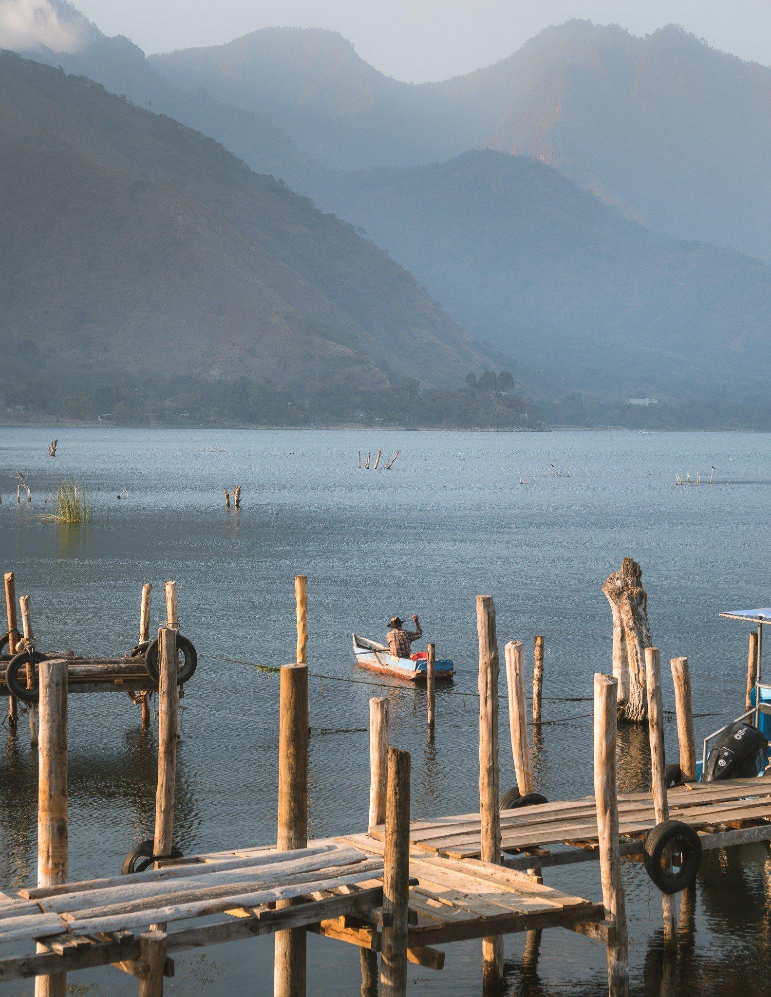 visiting Lake Atitlan in Guatemala