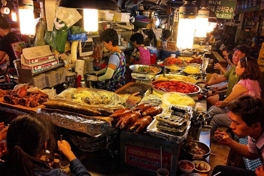 Gwangjang Market street food market in Seoul