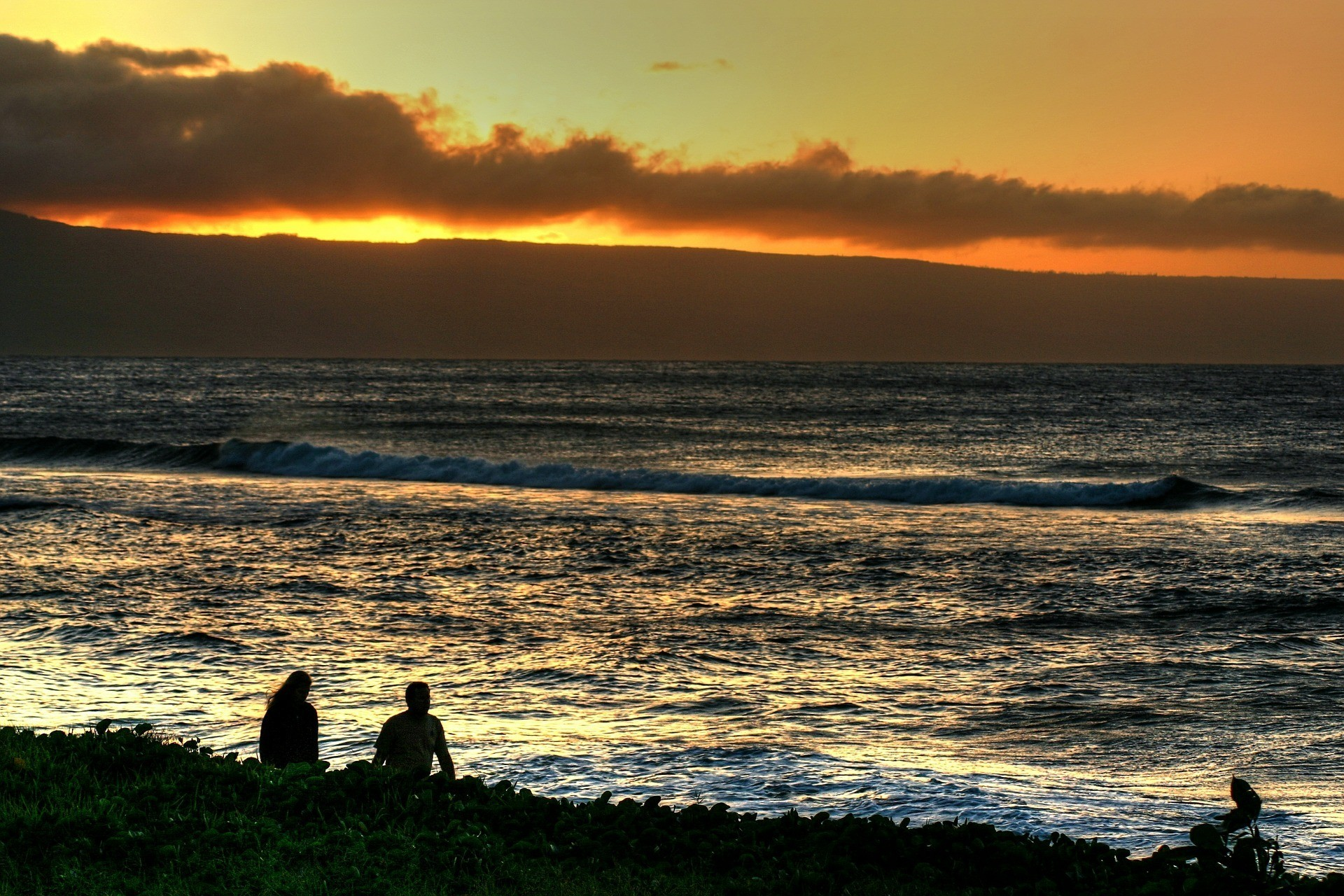Sunset and beach at Kaanapali - Best Area to Stay in Maui with a Family