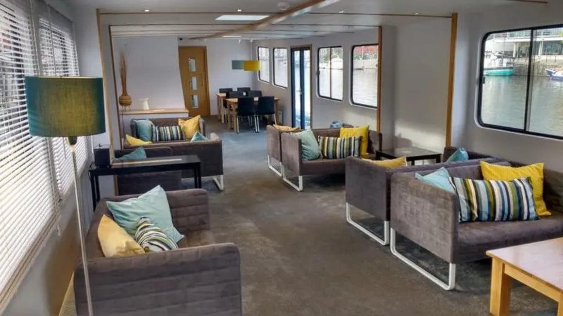 Kyle Blue Bristol Harbour Luxury Hostel Boat