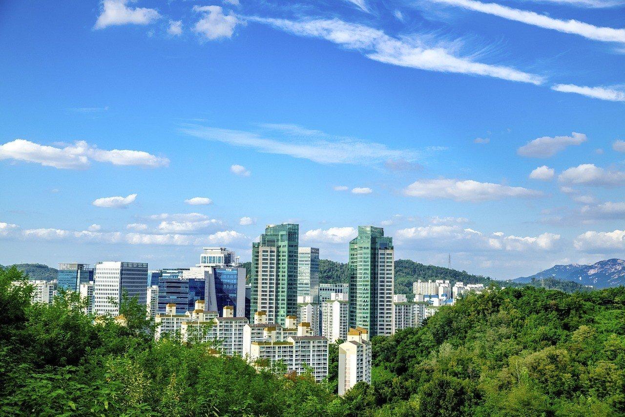 Mapo-Gu area in Seoul