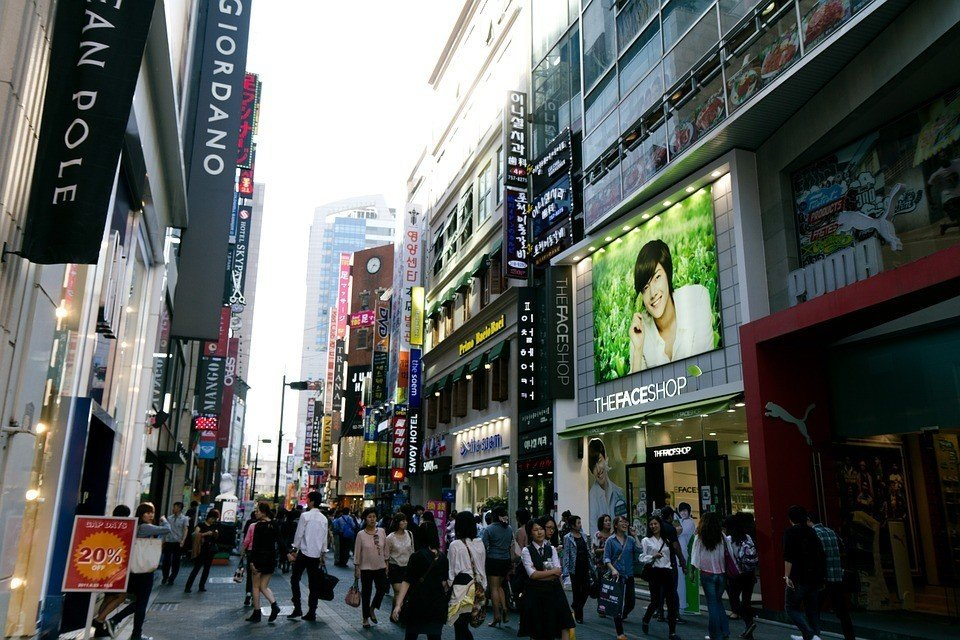 Myeongdong - the best area in Seoul for shopping