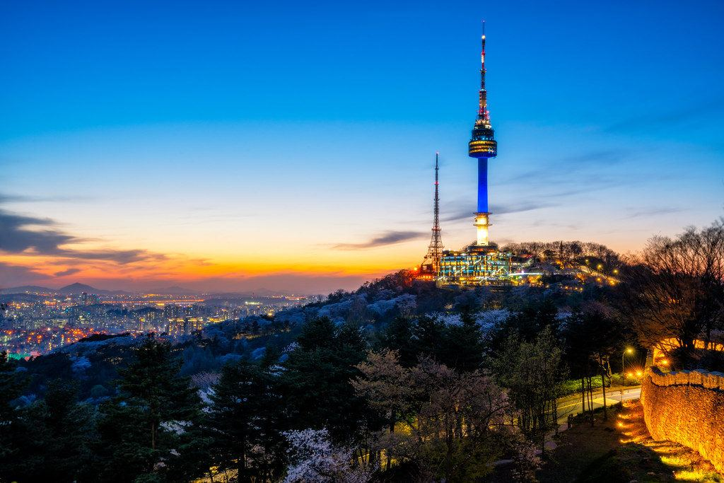 Namsan Tower is a good thing to do at night in Seoul