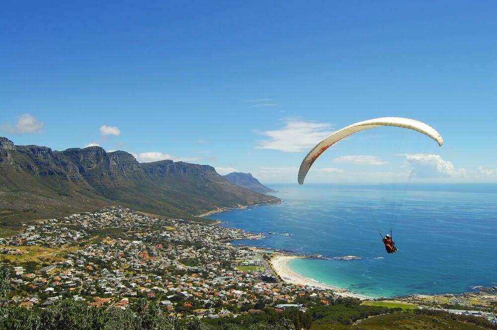 Paragliding off Lions Head