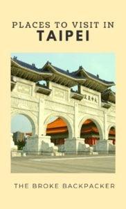 Places to Visit Taipei PIN