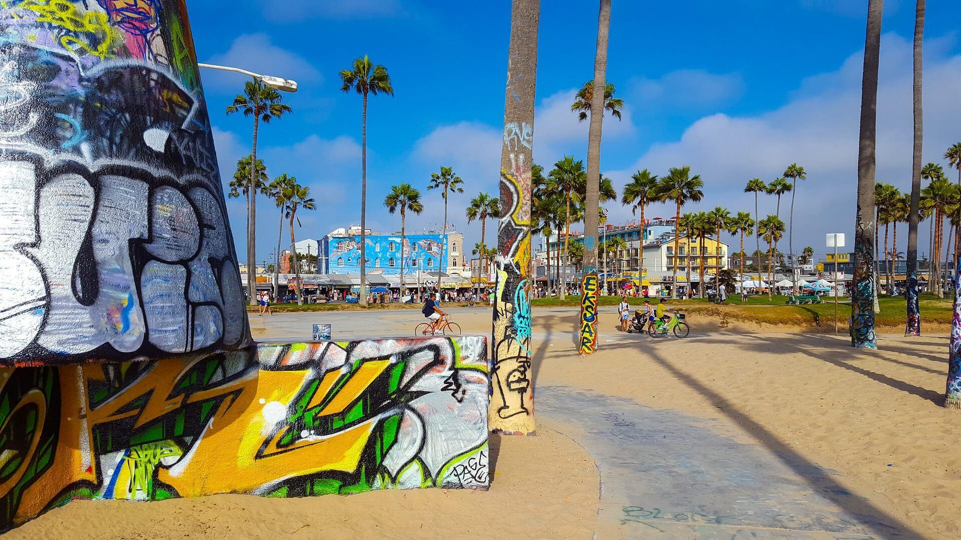 The Venice Beach Boardwalk, Los Angeles
