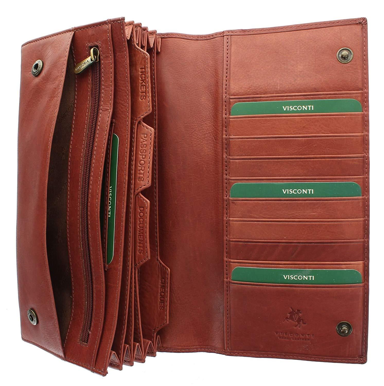 Visconti Leather Travel Organiser Wallet