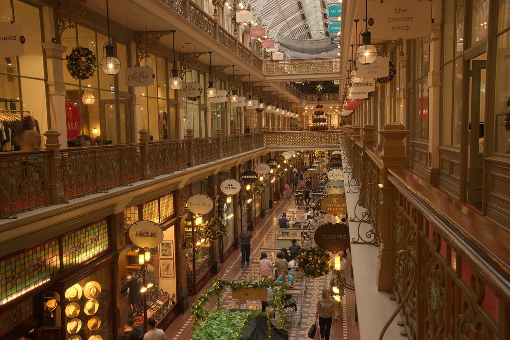 Shopping at Sydney's Strand Arcade