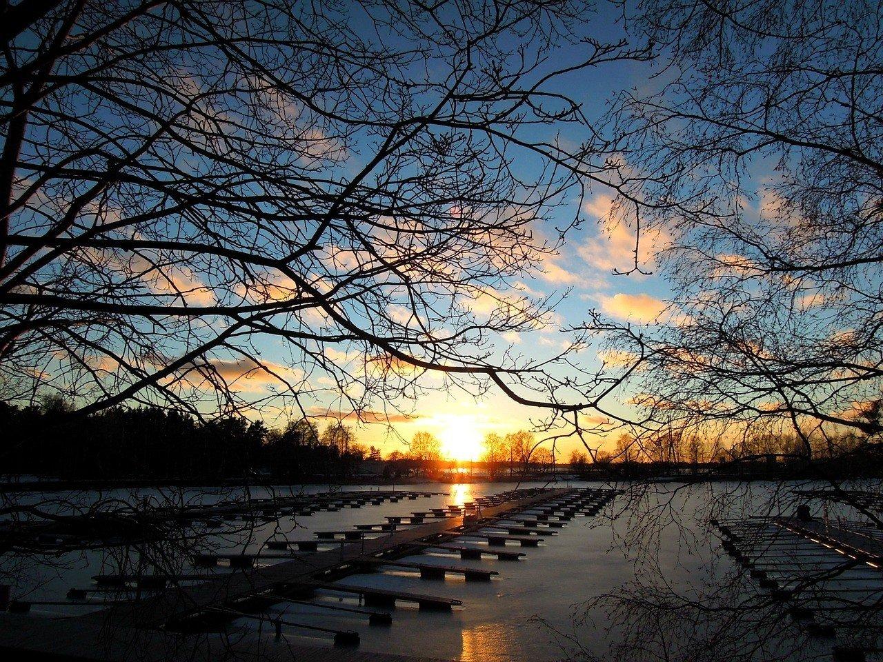 Sunset at Helsinki