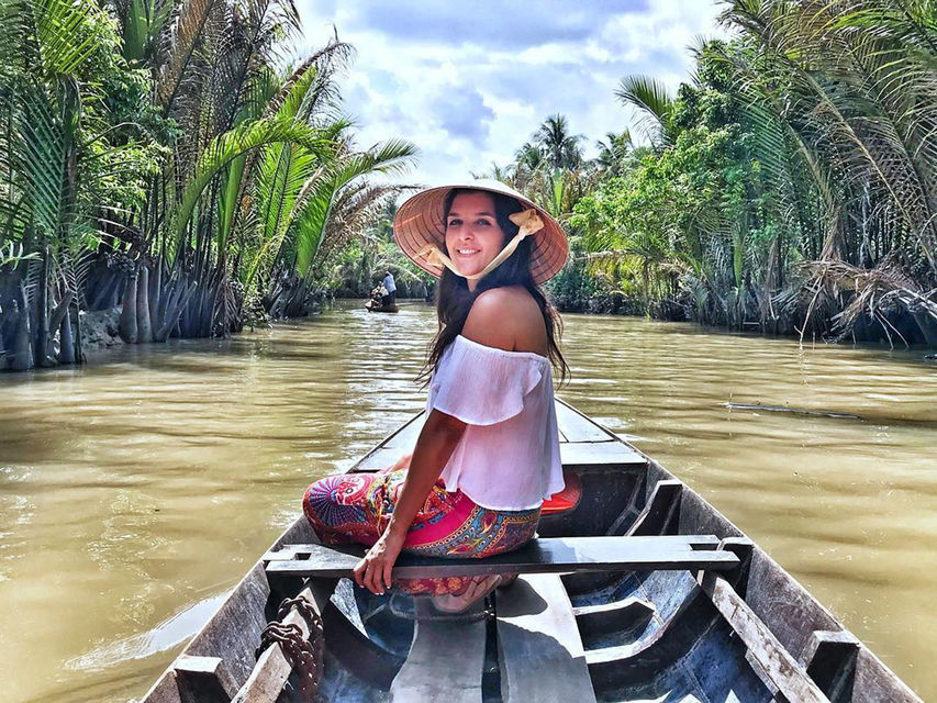 Mekong Delta Small Group W Vinh Trang Pagoda & Rowing Boat