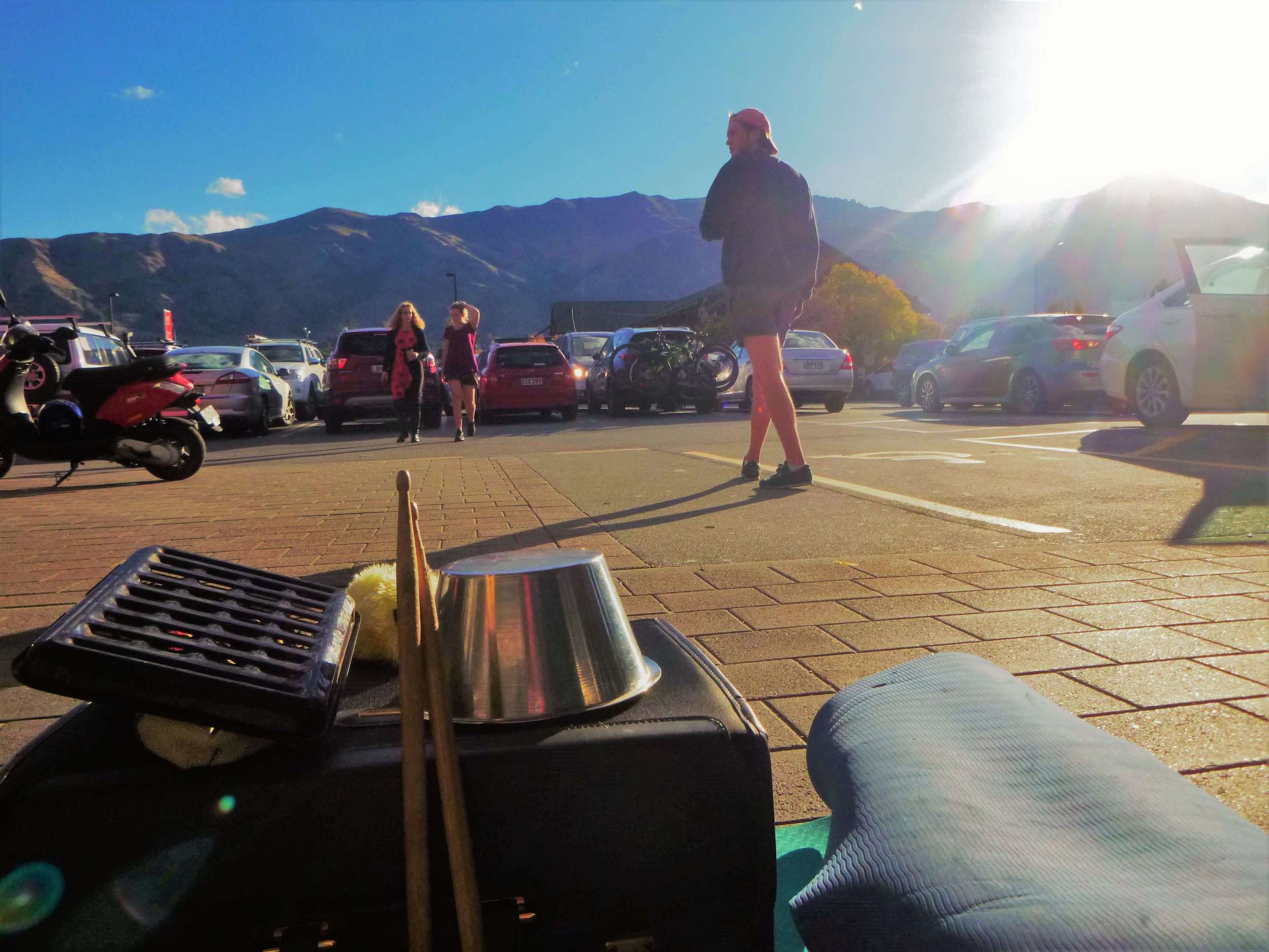 Learning how to busk at my favourite pitch in Wanaka