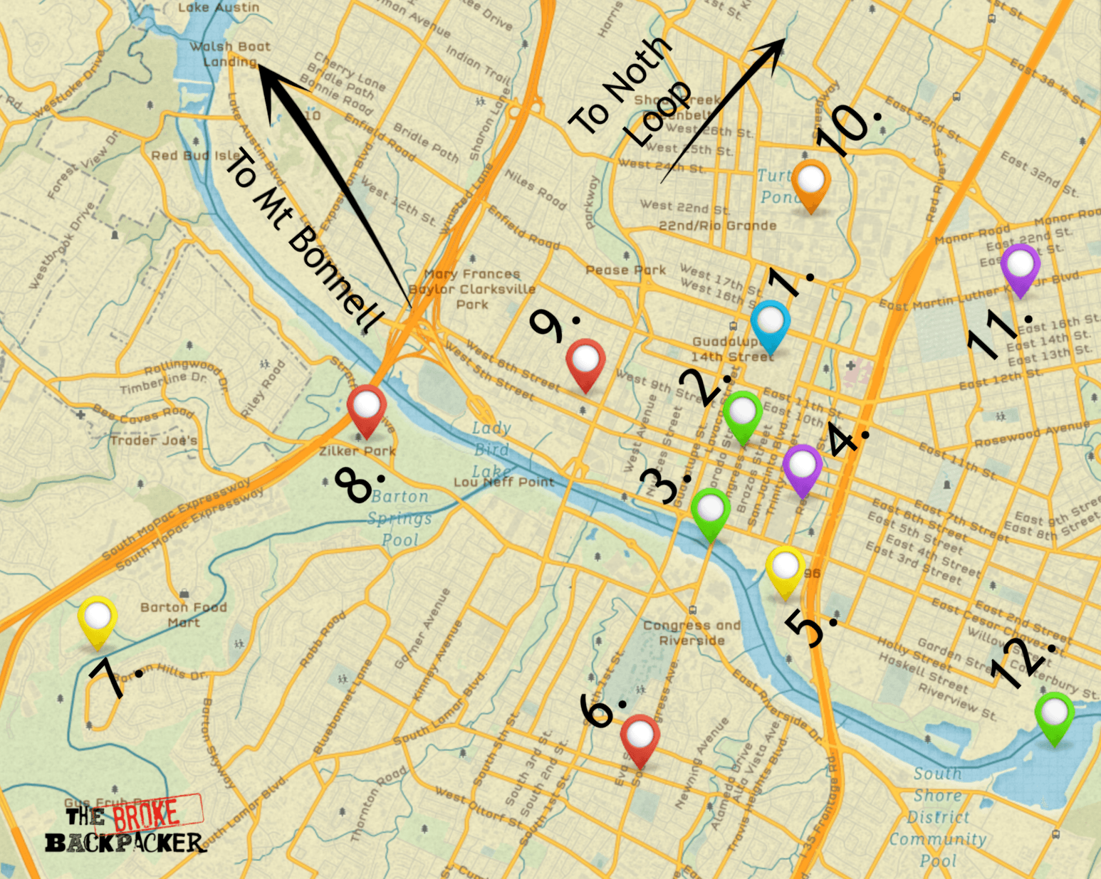 map of austin itinerary