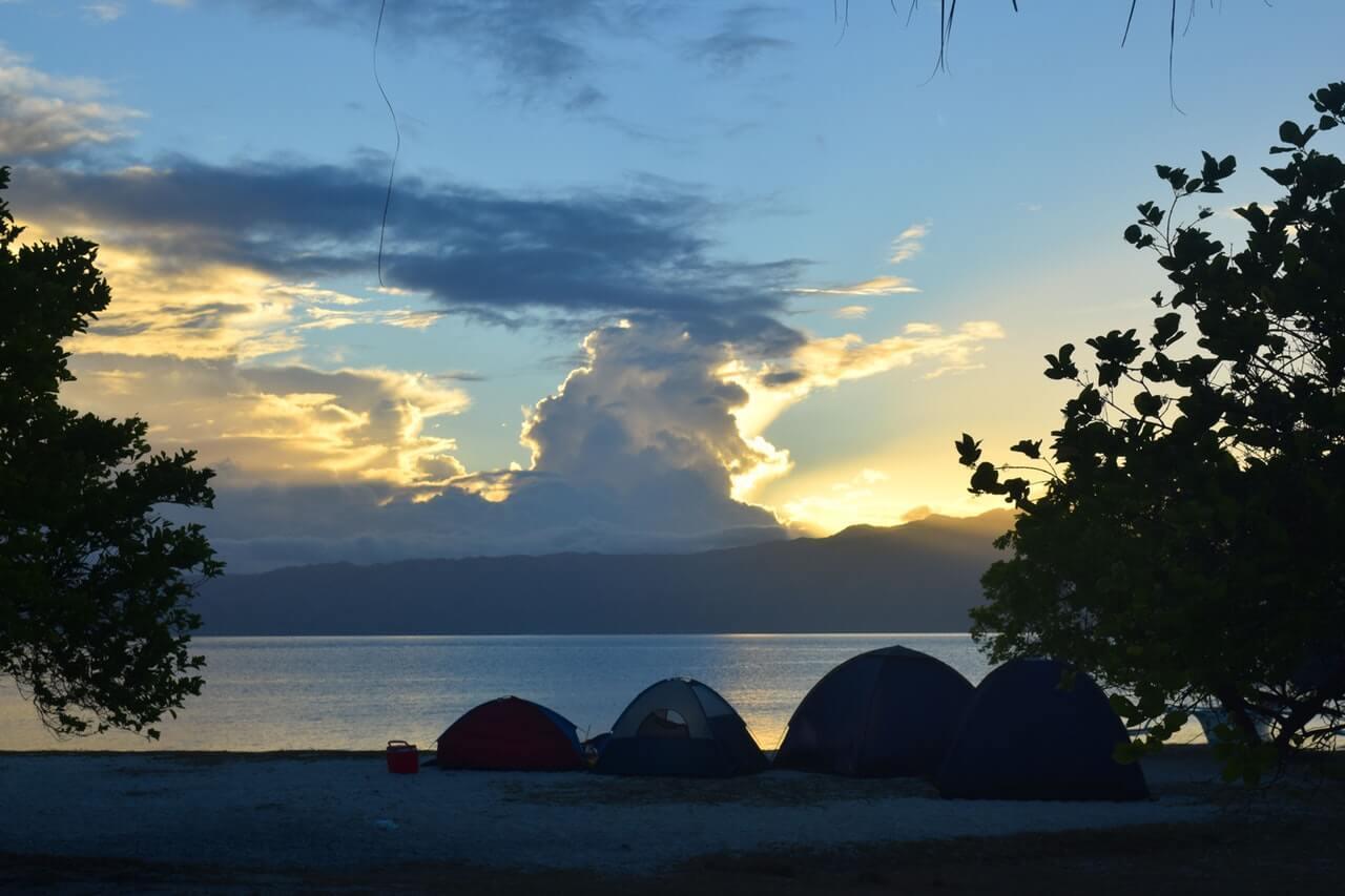 Camping on a Byron Bay beach
