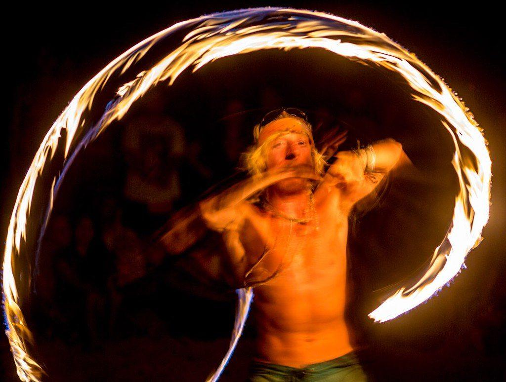Poi is a common thing to do in New Zealand's South Island