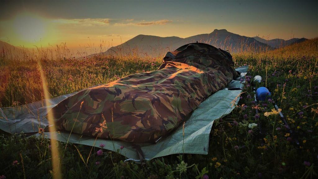 Bivy sacks are a lighter option vs. tents for camping