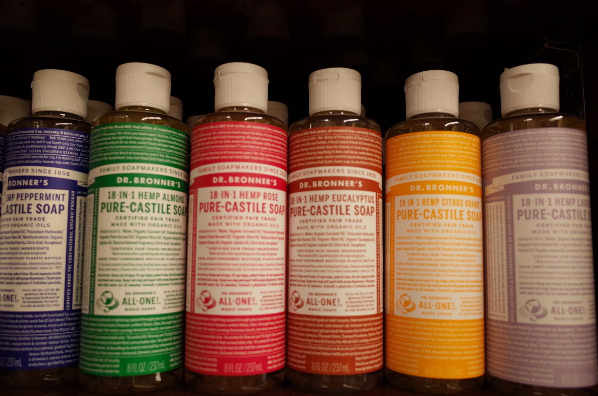 Dr. Bronner's is the best environmentally friendly soap for camping