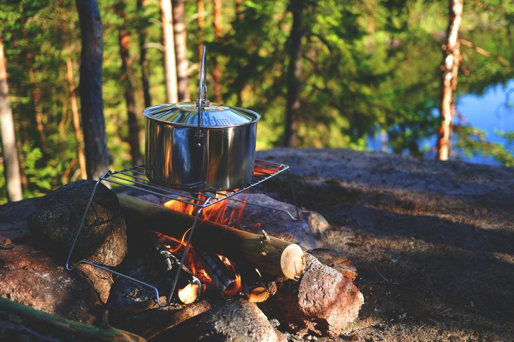 Cooking a campfire meal is the best after a hard day adventuring