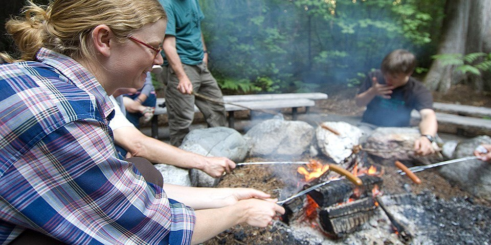 Get the kids to cook for an easy campfire meal idea