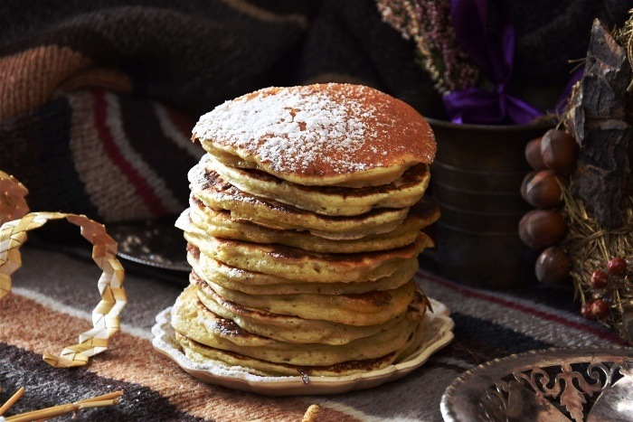 Pancakes are an awesome family camping meal idea